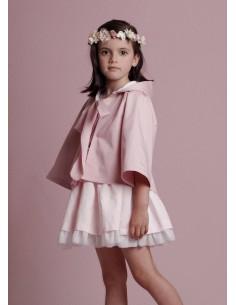 Capa rosa de niña Valentina