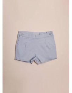Pantalón corto de bebe azul