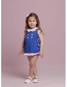 Vestido niña bebe azul Holanda