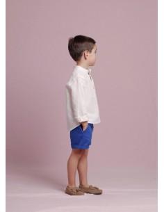 Pantalón corto azul añil