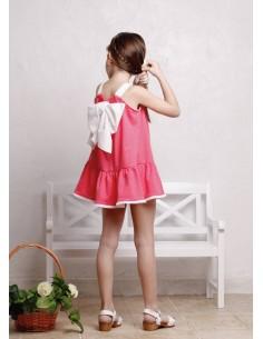 Vestido color fresa con...