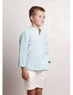 Camisa de niño minicuadros...