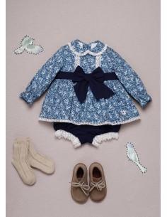 Vestido niña bebe azul Barbra