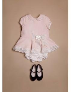Vestido rosa con pololo María