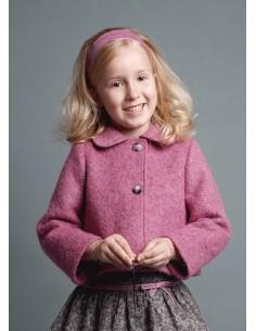 Chaqueta rosa de lana Linda