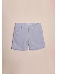 Pantalón corto mil rayas azul